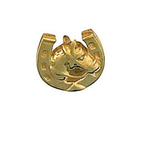 Horseshoe Lapel Pin Cravat Pin 9ct Gold Made in Jewellery Quarter B''ham